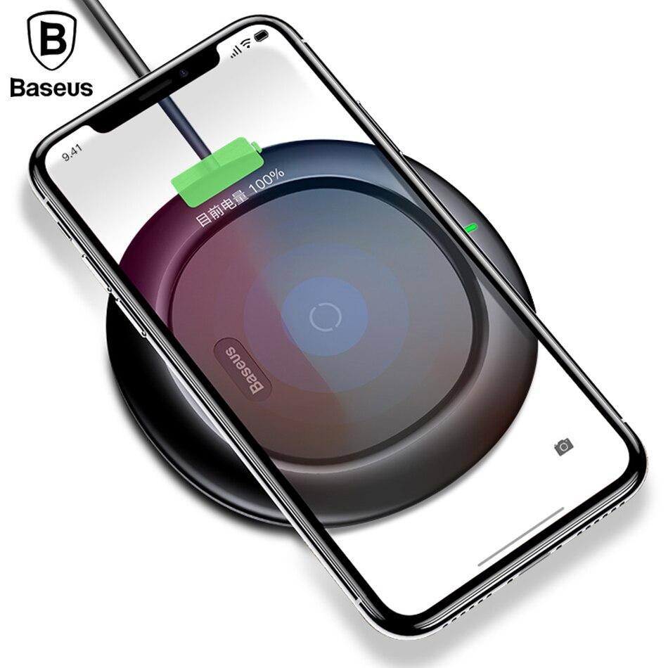 BASEUS QI Беспроводной зарядки Зарядное устройство для iPhone X 8 Samsung Примечание 8 S8 S7 S6 края мобильного телефона Desktop Зарядное устройство беспровод...