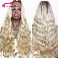 Carina Full Lace Human Hair Wigs with Baby Hair 1b 613 Brazilian Remy Hair Glueless Lace Wigs with Pre Plucked Hairline