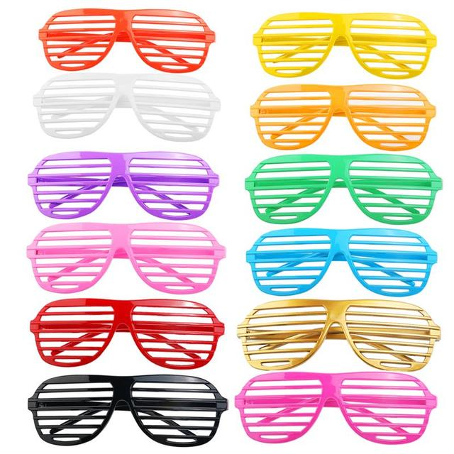 8ca47edb29 24 Pairs of Shutter Shades Glasses for Halloween Costume Sunglasses Eye Wear  for Halloween Party Cosplay