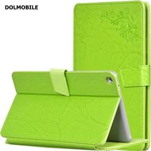 DOLMOBILE Print Flower PU Leather Case Cover for Huawei MediaPad M3 Lite 8 CPN-W09 CPN-AL00 8.0 Tablet Clear Screen Protector