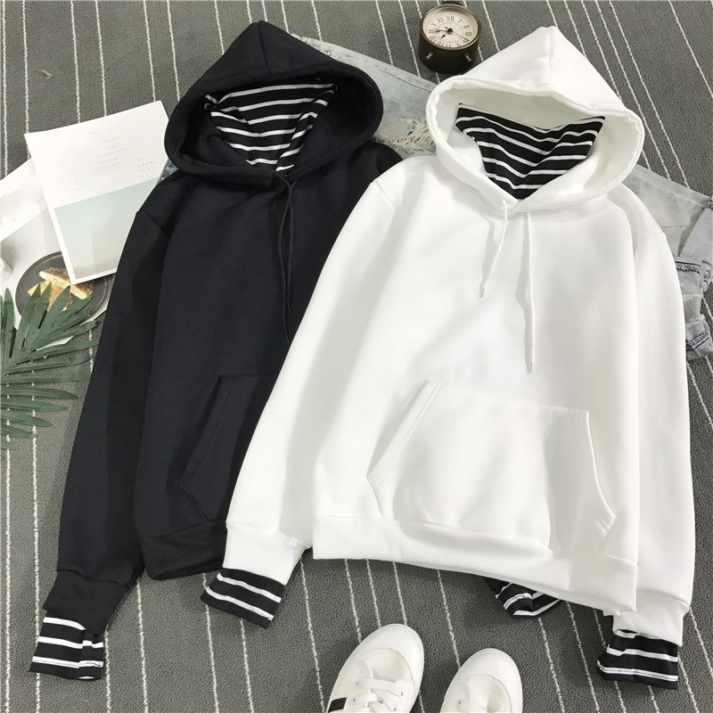 HTB1pqPGlRnTBKNjSZPfq6zf1XXaR - Neploe Harajuku Hooded Sweatshirts Long Sleeve Stripe Patch Hoodies 2019 Winter Fleece Causal Pullover Female Tops 36224