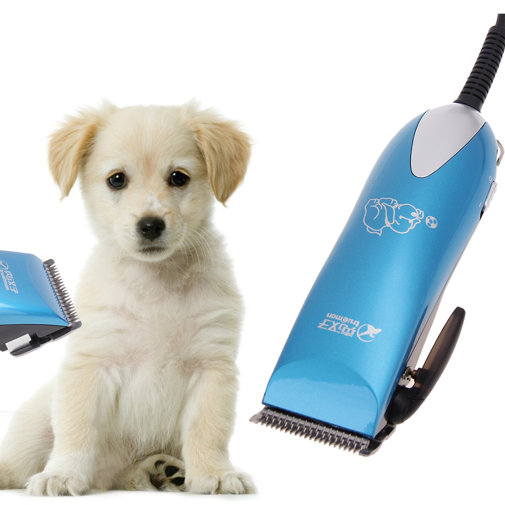 Professional Low-noise Pet Dog Hair Trimmer Grooming Hair Clipper Animal Pet Dog Stainless Steel Hair Cutter With Combs US Plug