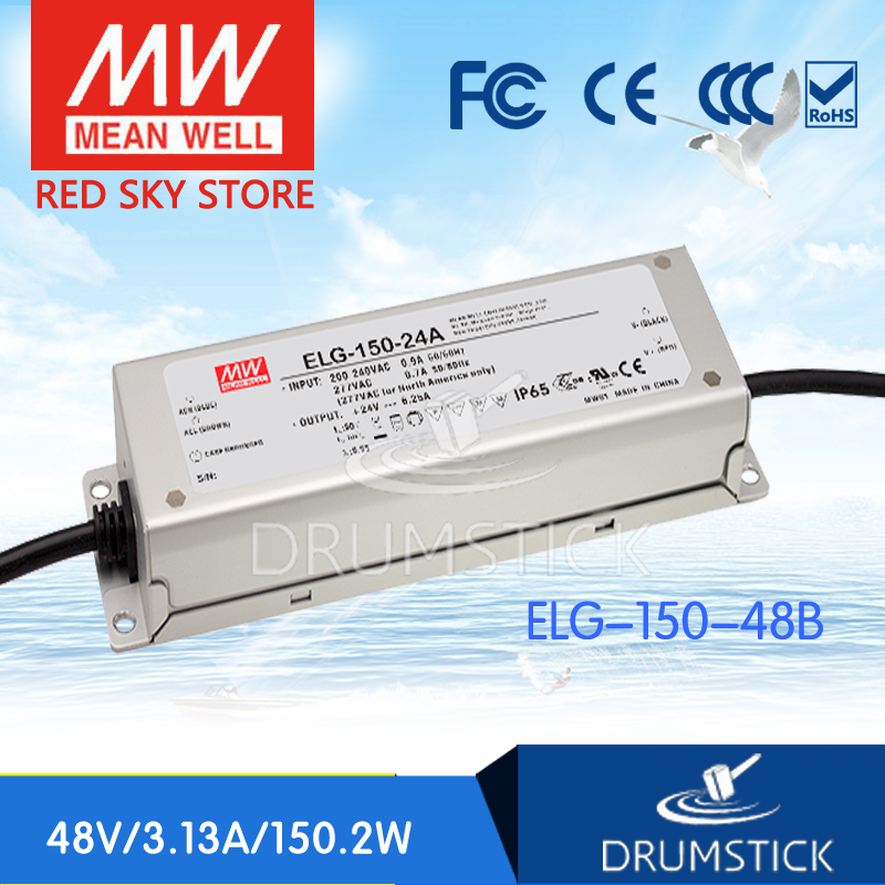 цена на MEAN WELL ELG-150-48B 48V 3.13A meanwell ELG-150 48V 150.2W Single Output LED Driver Power Supply B type [Hot8]