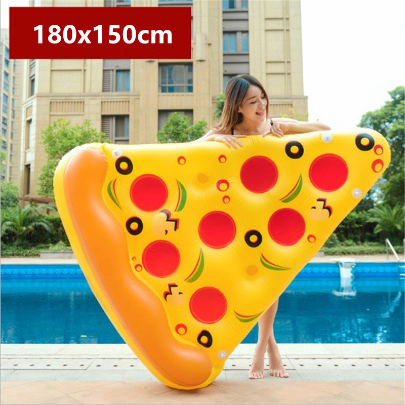 180*150cm Giant Inflatable Pizza Pool Float Ride-On Swimming Ring Water Holiday Party Toys Piscina funny swimming laps winnie the pooh iphone case