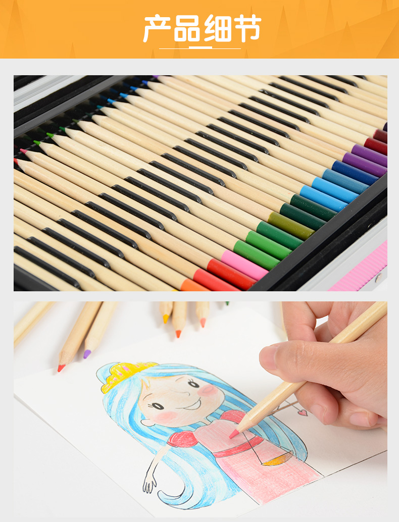 pincéis de crayon aquarela