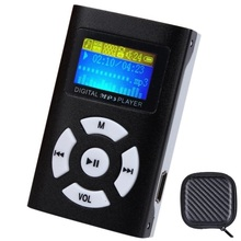 Superior Mini USB Clip Del Metal MP3 Reproductor de Pantalla LCD de la Ayuda 8 GB Micro SD TF Ranura Para Tarjeta de música Digital mp3 jugador