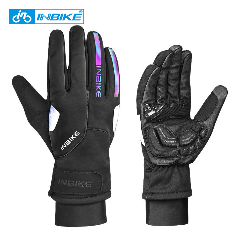 INBIKE Windproof Winter Cycling Gloves Touch Screen Sport Gloves Thickened Warm Riding Bicycle Mens MTB Bike Motorcycle Gloves