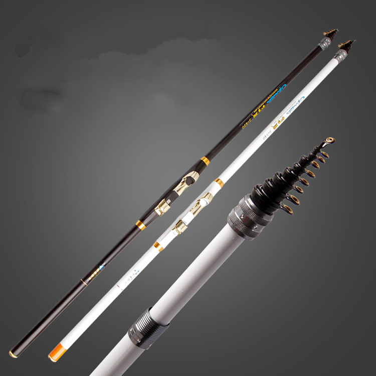 Carbon spinning fishing rods superhard lure rod pole for Strongest fishing rod