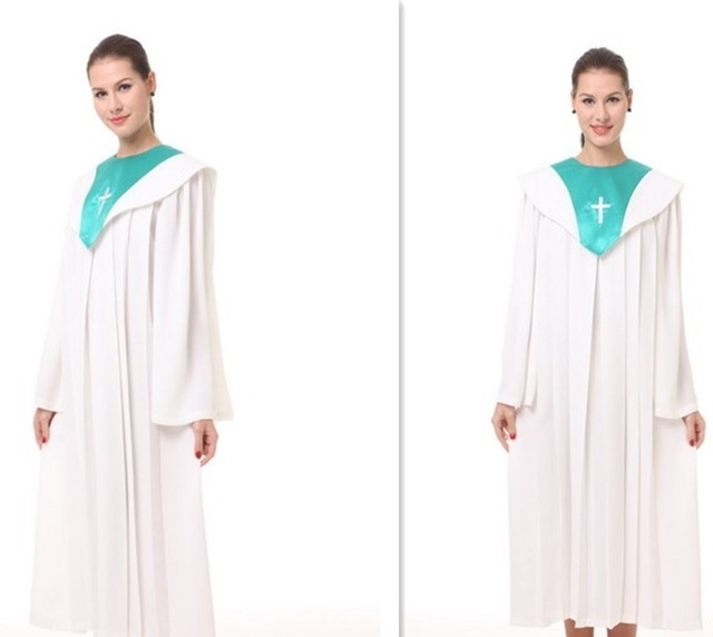High quality materials made Graduation Gown Clergy Choir Judge Robe Nun Priest Church Christian Costume wear vestido-in Asia & Pacific Islands ...