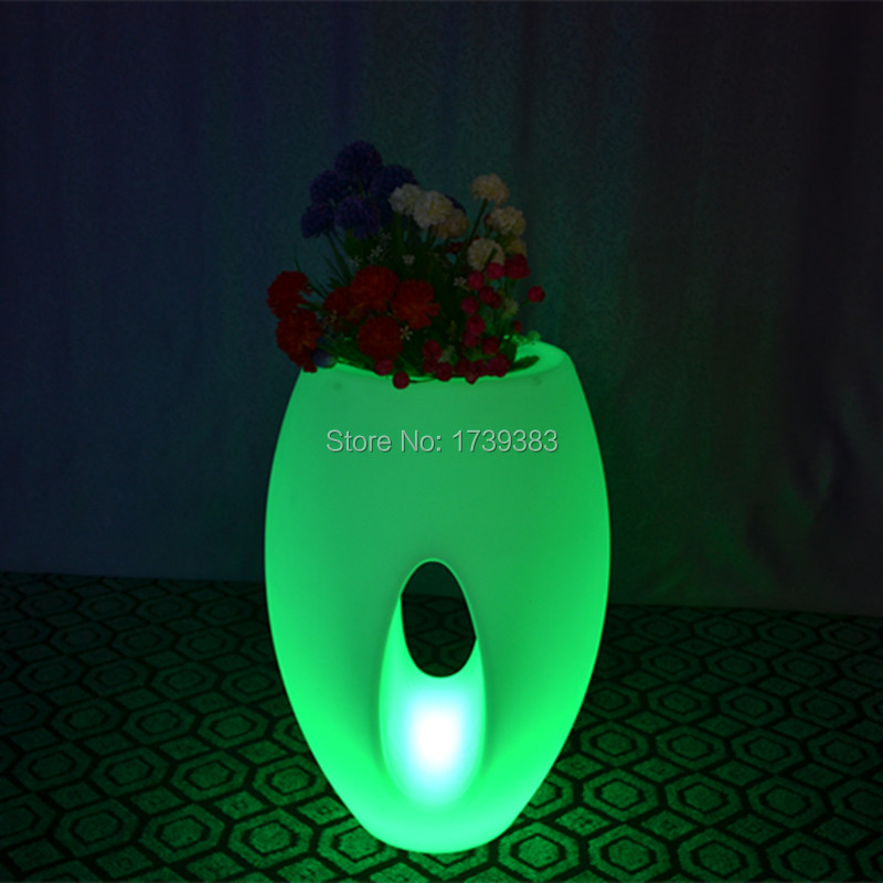 где купить Colorful rechargeable remote control LED Luminous flower pot of ice bucket LED Multicolore for illuminated furniture по лучшей цене
