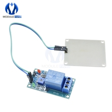 12 В модуль контроллера капель дождя Датчик дождя релейный модуль питания для Arduino Foliar Moisture M35 Монитор датчик влажности погоды