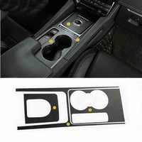 Car Accessories Water Glass And Gear Carbon Fiber Sticker Cover Car Styling For Jaguar F Pace