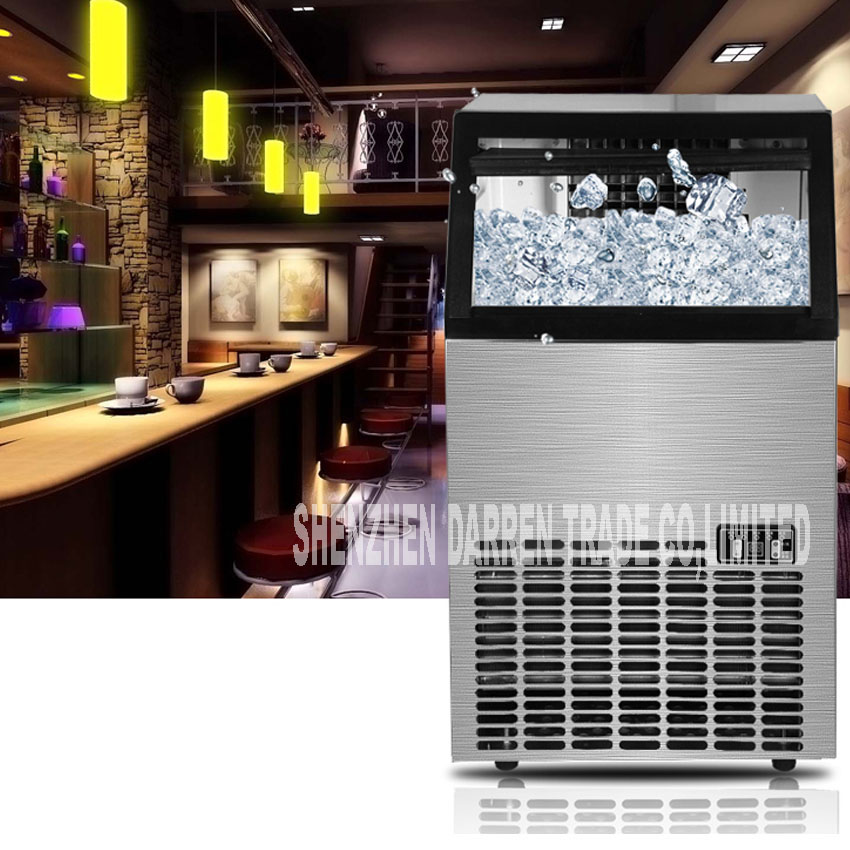 Clever 1 Stück Neue Ankunft 220 V-240 V/50 Hz 68 Kg Kommerziellen Eismaschine Intelligente Anpassung Eis Tee Shop Platz Ice Maker Eismaschinen Haushaltsgeräte