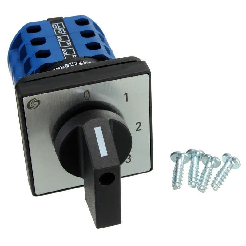 Portable 660V 20A 12 Terminals 4 Positions Rotary Switch Cam Changeover Switch Useful Tools Tool Switches Best Price ith 20a 8 screw terminals rotary combination cam switch