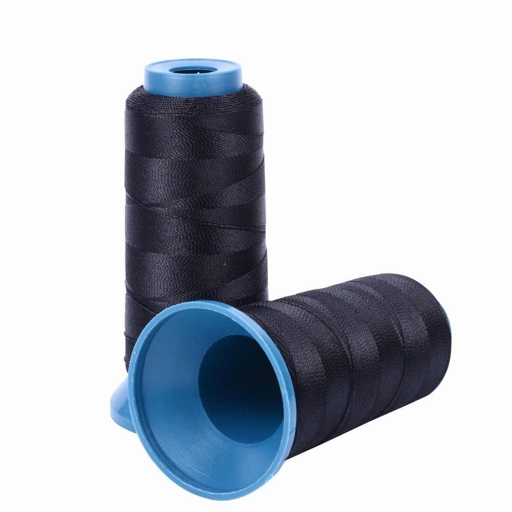 1 rolle schwarz haar weben gewinde Hohe Intensität Polyamid Gewinde 12 stücke 9 cm weben nadeln/C typ nadeln /gebogene nadel