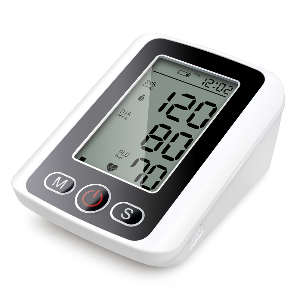 Digital LCD Arm Blood Pressure Pulse Monitor Function Portable Heart Beat Meter for Measuring Automatic Health Care with Voice exerpeutic lx905 training cycle with computer and heart pulse sensors