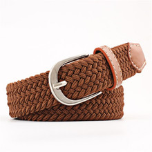 YJSFG HOUSE Trendy Women Men Belts Canvas Woven Leather Band Pin Buckle Belts Elastic Waist Straps Knitted Canvas Canvas Belts buckle straps flap canvas backpack