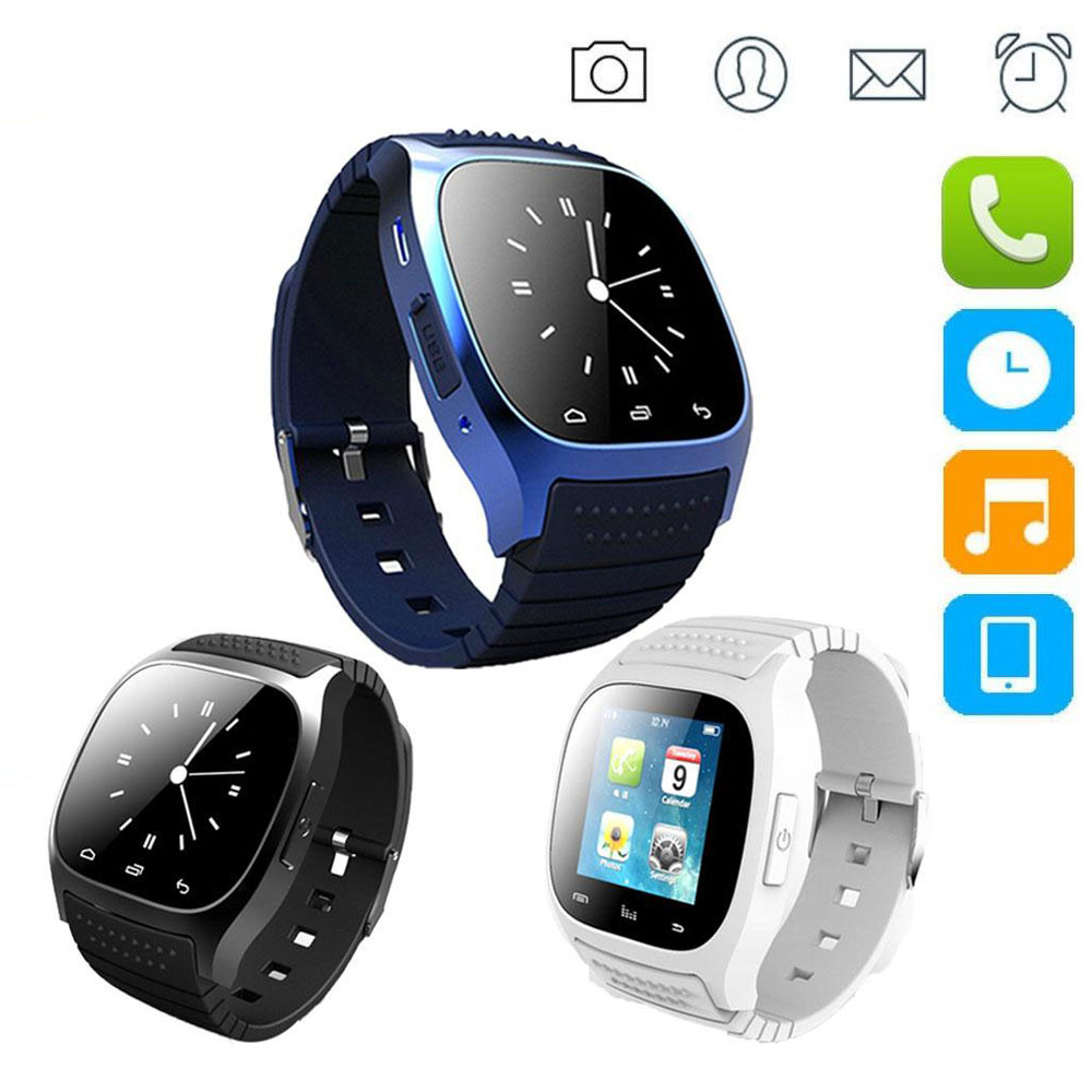 Smartwatch impermeable m26 bluetooth smart watch con led reproductor de música a