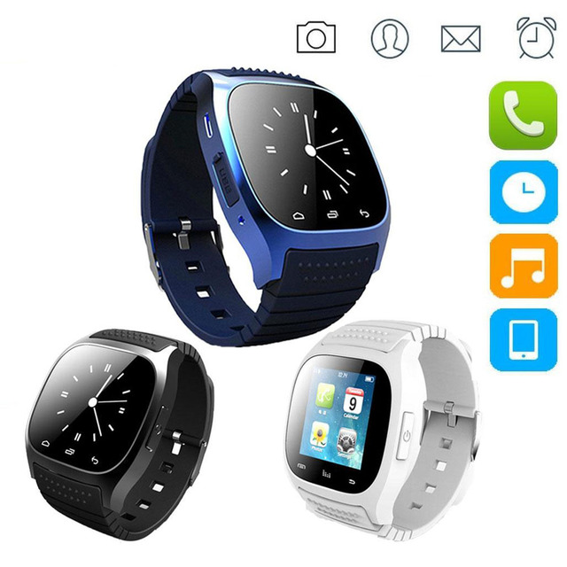 b03fa7e1b23 Waterproof Smartwatch M26 Bluetooth Smart Watch With LED Alitmeter Music  Player Pedometer For Apple IOS Android Smart Phone