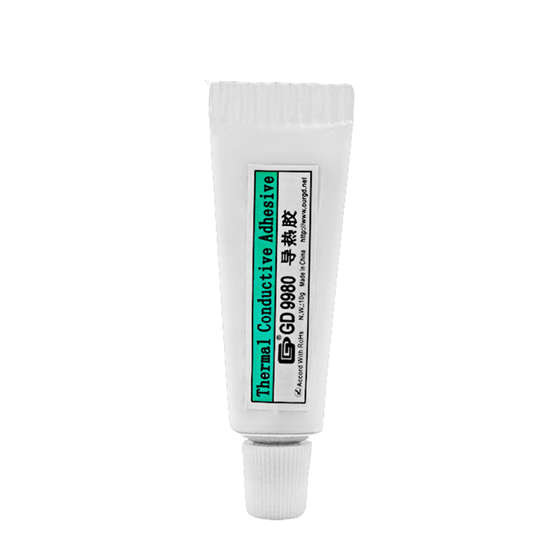 GD9980 Thermal Conductive Grease Paste Silicone Plaster For LED Chip Heat Sink Compound High Performance Net Weight 10 Grams