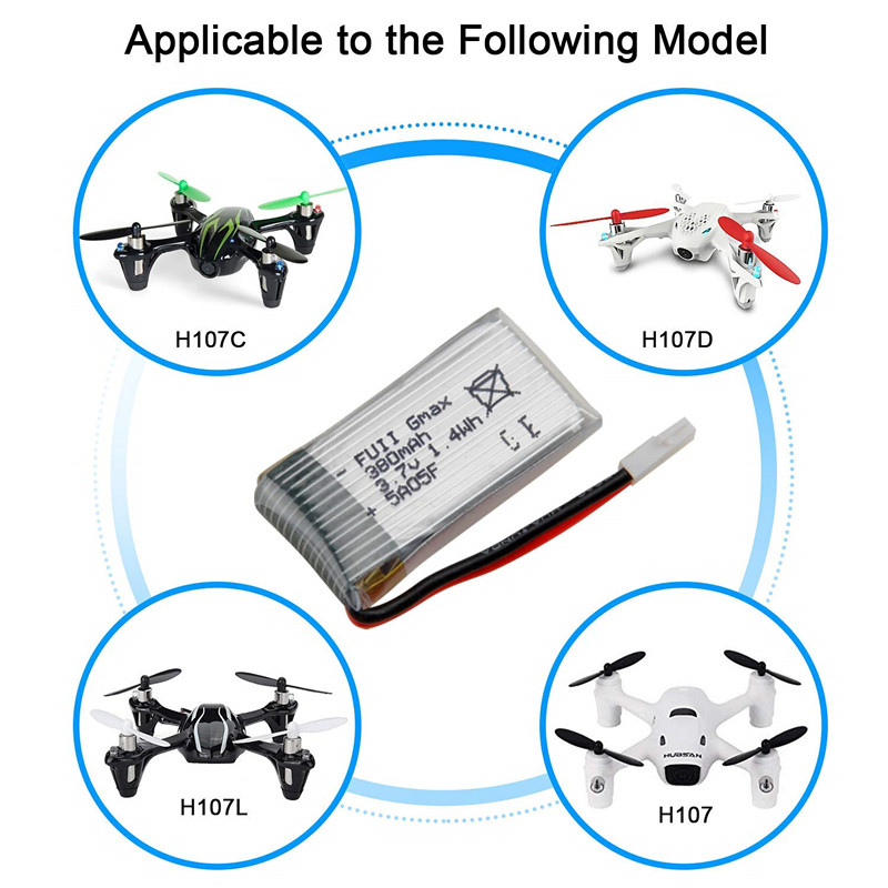 3.7v 380mah 25c Rc Quadcopter 752035 <font><b>Lipo</b></font> <font><b>Battery</b></font> For Hubsan X4 H107 H31 Ky101 <font><b>3.7</b></font> V 380 Mah <font><b>Lipo</b></font> <font><b>Battery</b></font> For Hubsan X4 H107 image