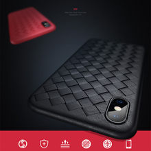 Fashion Breathe Weave Grid Case for iPhone 6 6S Case Plus Cover Soft Silicone Protective Cases for iPhone X 5 5S SE 6S 7 8 Plus(China)