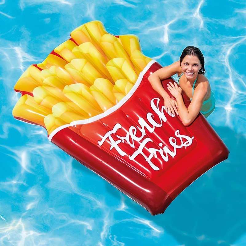 Gonflable frites piscine flottante piscine flottante piscine flottante jouet de piscine anneau de natation radeau de plage
