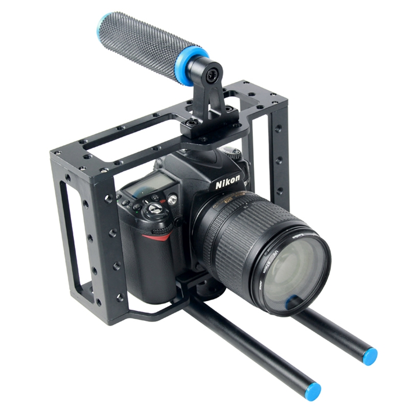 YELANGU YLG0107E Protective DSLR Camera Cage Stabilizer Metal Aluminum Top Handle Set Handheld Stabilizer
