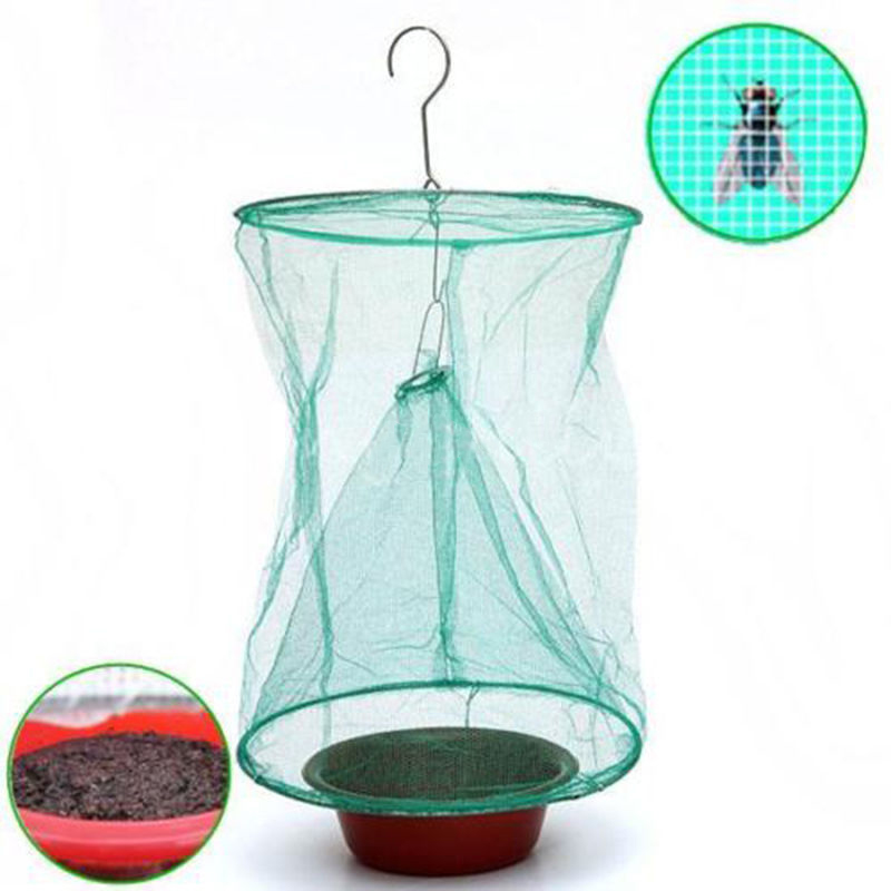 JX-LCLYL Kitchen Fly Bug Insect Pest Drosophila Net Catcher Cage Trap Killer Hanging Bags