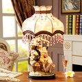 Современные Керамические настольные лампы для гостиной  дома  светодиодная настольная лампа для спальни  пара обниманий  пар  качающийся  ...