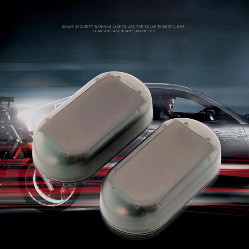 Universal Car Fake Solar Power Alarm Lamp Security System Warning Theft Flash Blinking Anti-Theft Caution LED Warning Lights