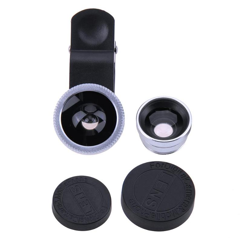 3-in-1 Universal Mobile Phone Camera Lens Kit With Clip For All Smartphones 19
