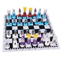 الشطرنج الدولي Chessman السفر خشبية لعبة الشطرنج مع مجلس ألعاب تعليمية ألعاب للأطفال والكبار