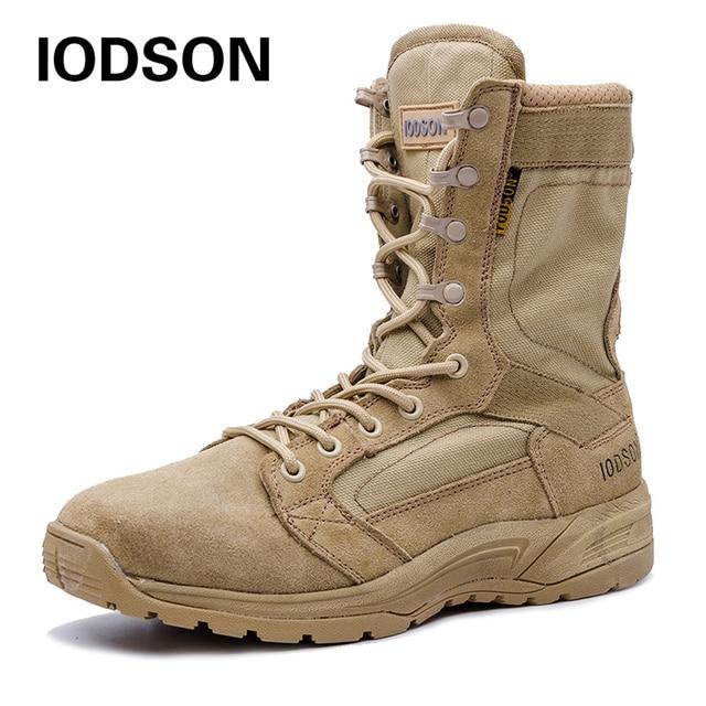 Açık askeri taktik botları erkek Nefes Çöl Savaş yarım çizmeler Sonbahar/Kış Ordu Ayakkabı 3 Renk