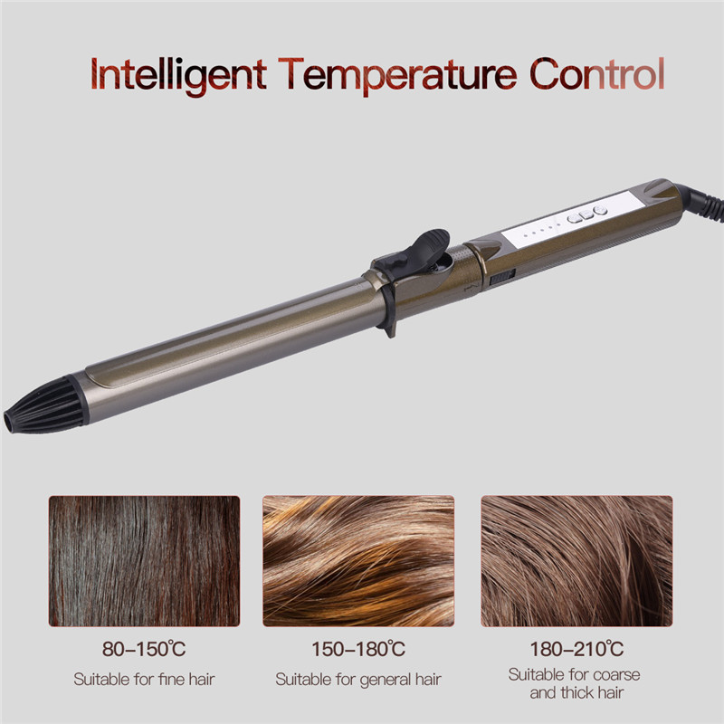 25/28mm Professional Salon Ceramic hair curling iron tongs 360 rotating clip Big Wave hair curler Fast Heating styling tools S47
