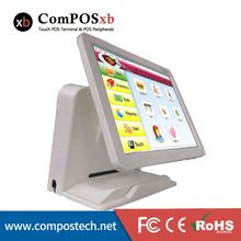 """Factory Directly Sell 15"""" Touch Screen All in One Touch Screen Restaurant System China POS Terminal With VFD Customer Display"""