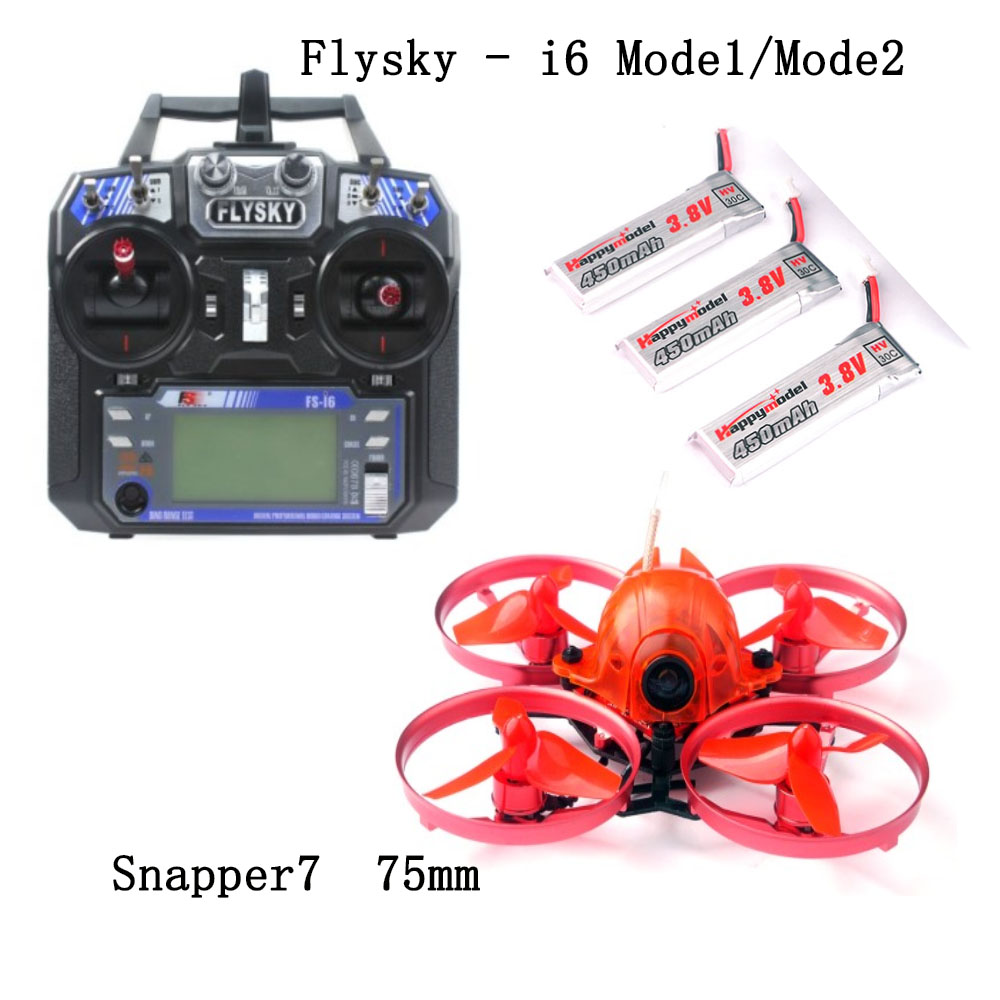 JMT Snapper7 Brushless 4-Axis Aircraft Micro 75mm FPV Racer Racing Drone RTF 700TVL Camera with FS-i6 RC Transmitter Controller jmt snapper7 brushless whoopi aircraft bnf micro 75mm fpv racer quadcopter 4in1 crazybee f3 fc flysky frsky rx 700tvl camera vtx
