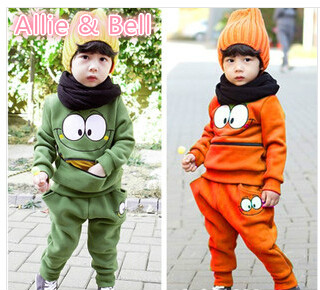 New Hot Children Clothing Sets Coat Pants Fit 3-7Yrs Girls Boys Spring Autumn Outwear Trouse Kids Cotton Casual Clothes Sets