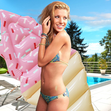 170cm Inflatable Sweet Ice Cream Giant Floating Mat Air Mattress Swimming Ring Lifebuoy Summer Water Party Toys Lounger Piscina