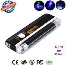 Quality goods handheld money detector back light UV lamp forge money test currency/bank note detector Handheld +flashlight