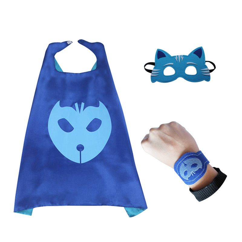 Cosplay Patrol Puppy Kids Capes And Masks Puppy Canine Cape Cosplay For Children Party Costumes and Halloween Gift Pyjamasques hellboy cosplay mask halloween helmets for kids carnival party masks