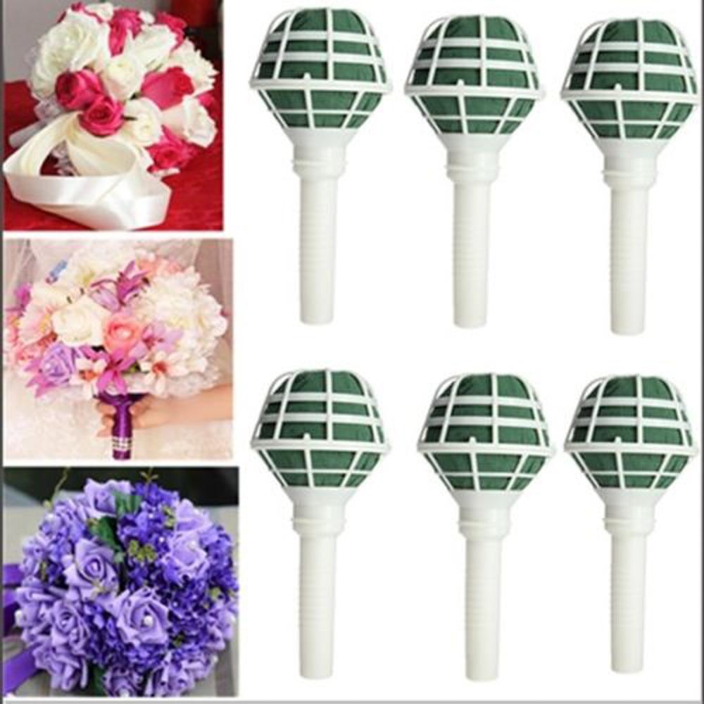 Flower Holder Bridal Floral Foam Bouquet Handle 6pcs ...