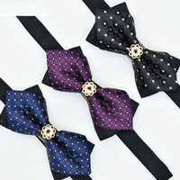 High Quality Hot Sale 2017 Formal Commercial Bow Tie Butterfly Cravat Bowite Male Bow Ties For