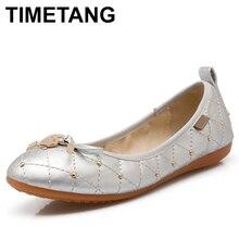 TIMETANG Women Shoes Plus Size 34-45 Round Toe Flat Shoes Woman Soft Sole Foldable Ballet Shoes Women's Flats Fashion TravelC341
