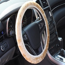 Soft Warm Plush Winter Car Steering-Wheel Cover Elastic Universal Steering Wheel Cover Auto Supplies Cars Accessories цена