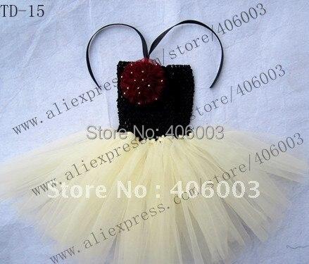 Вязаное платье для маленьких девочек; цвет черный, слоновой кости; 6*6 дюймов