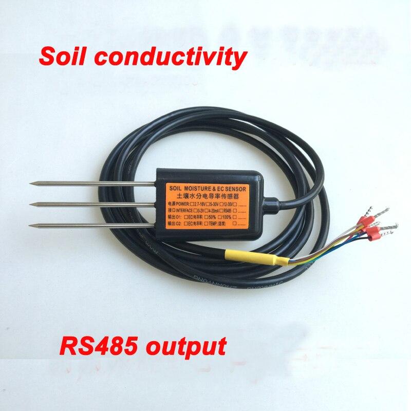 Livraison gratuite EC10 sortie RS485 mesure de conductivité du sol capteur de conductivité ec de haute qualité