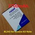 New arrived 3700mAh BL243 Mobile Phone Battery Use for lenovo K3 Note K50-T5 Phone