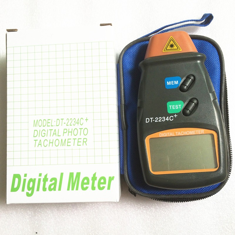 DT-2234C+ digital photo tachometer digital engine tachometer digital speedometer Digital Laser Photo Tachometer Non Contact Tach 5