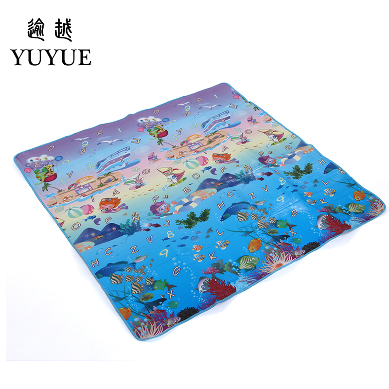 150*180cm waterproof aluminum picnic mat cartoon design for children climb mats baby crawls cushioning mat playmat 4